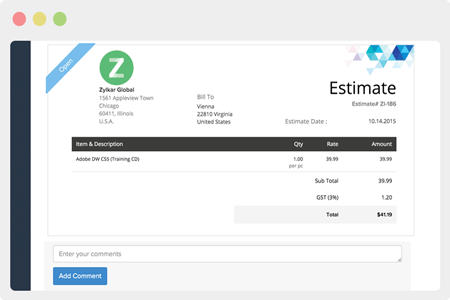 Discuss within the Client Portal and get estimates approved faster.