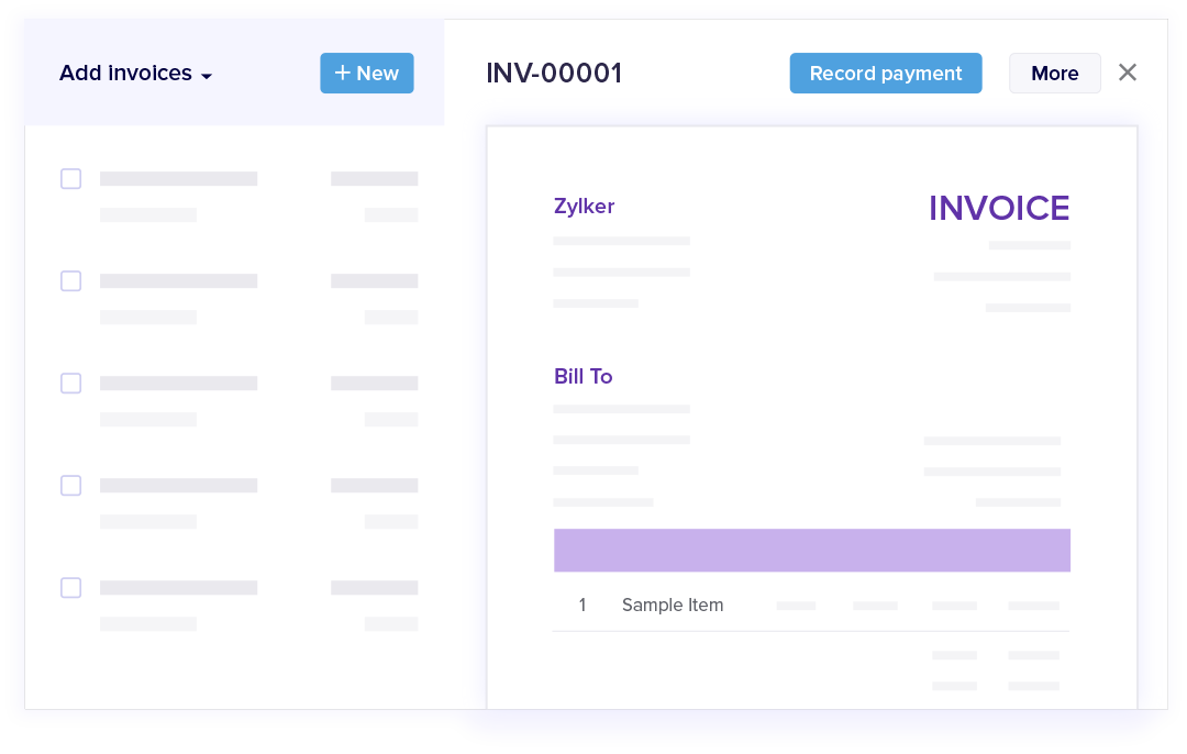 Efficient Invoicing