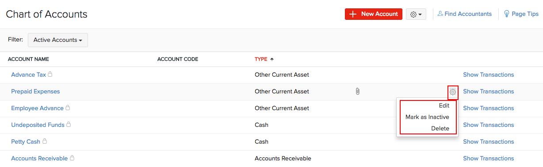 Configure Chart of Accounts