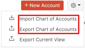 Import Chart of Accounts
