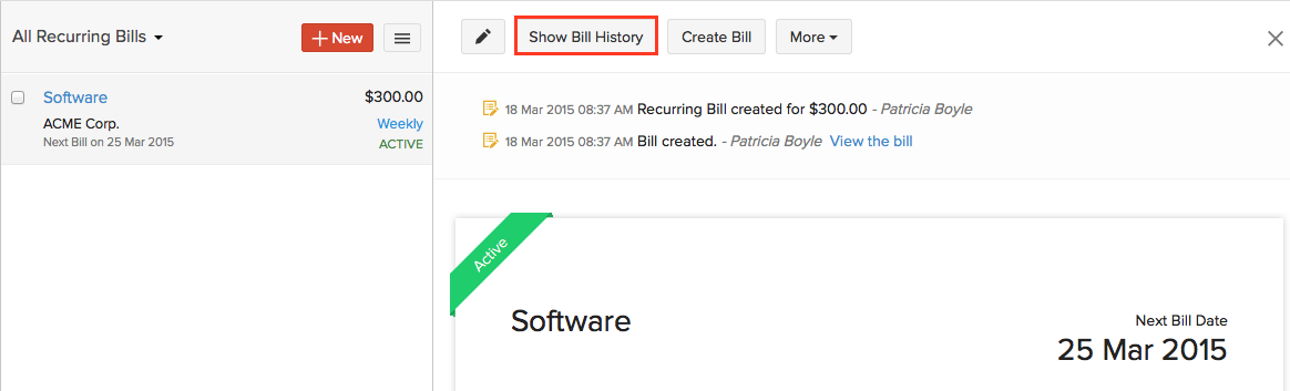 Check Recurring Bill