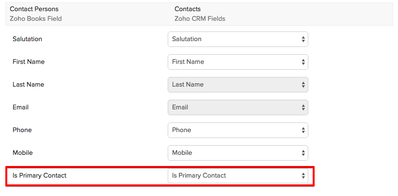 CRM Primary Contact
