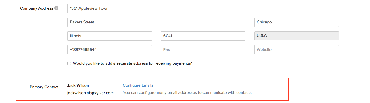 Change your email address from here