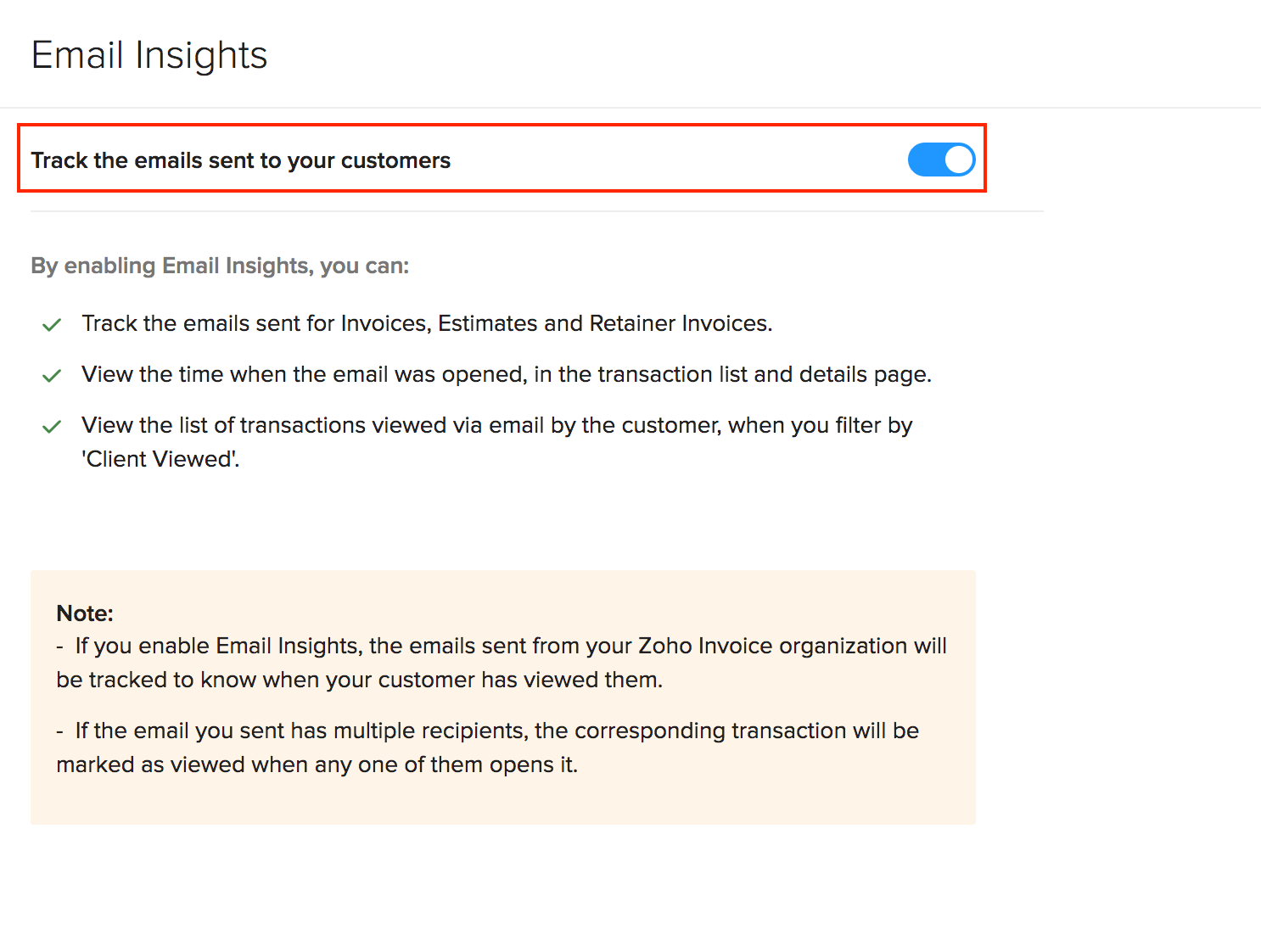 Enable email insights