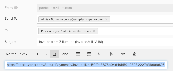 Secure payment URL