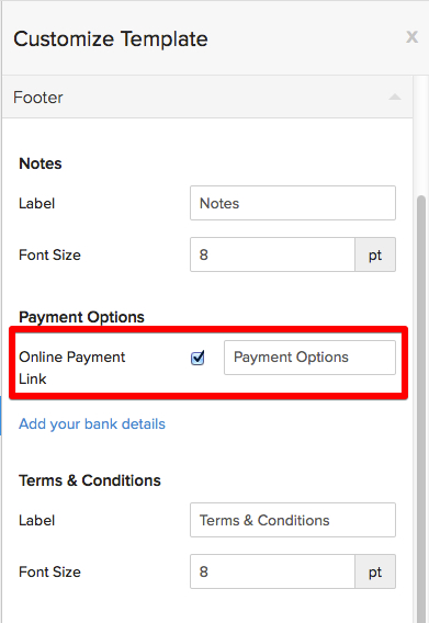 Disable payment gateway link