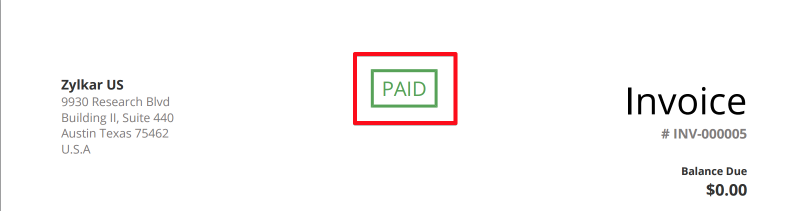 Show Status Of Invoices On Template - Invoice paid stamp