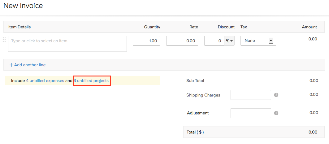 create invoice for multiple projects faq zoho books