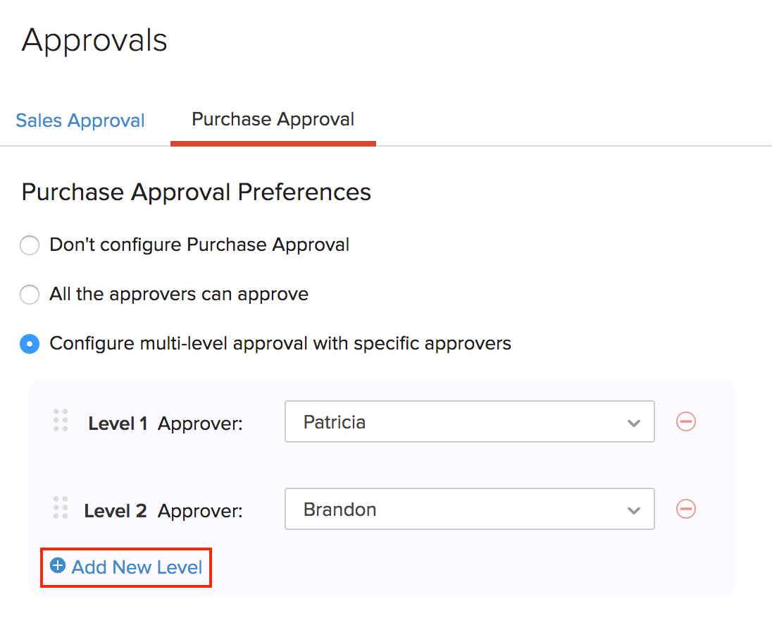 configure-multi-level-approval