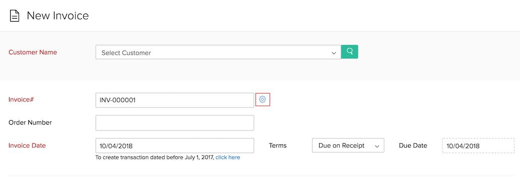 Auto-generate invoice number