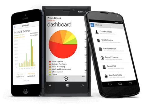 Bookkeeping Mobile App - Zoho Books