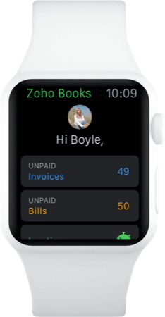 Apple watch Accounting app