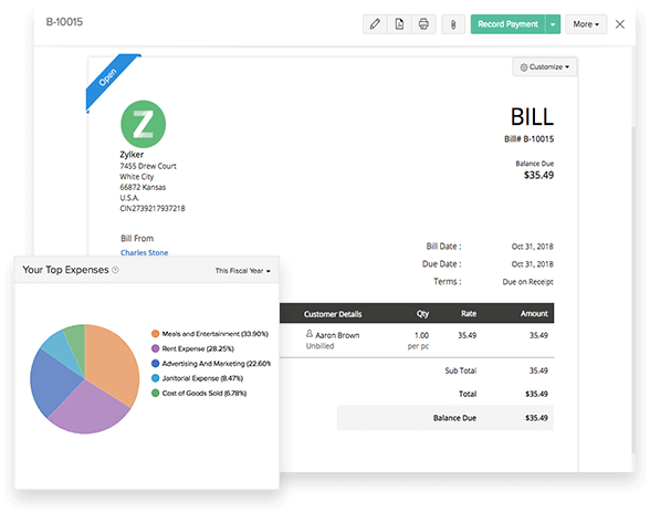 Expense Tracking - Small Business Accounting Software | Zoho Books