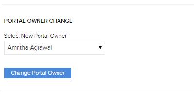 Portal Owner Change