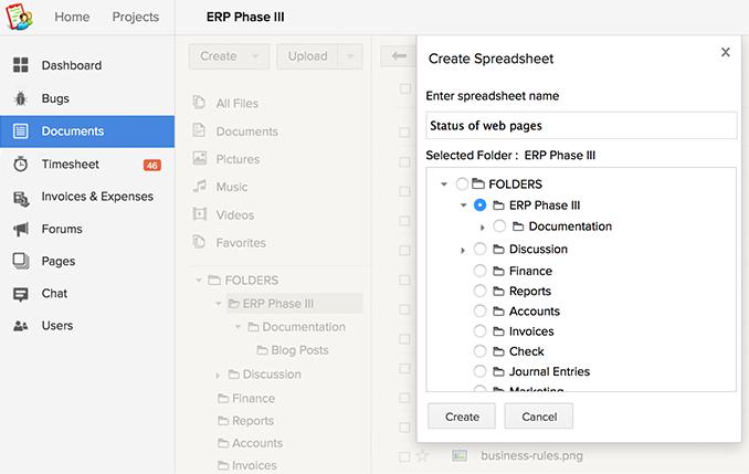 create-spreadsheet