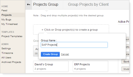Create-projectgroup