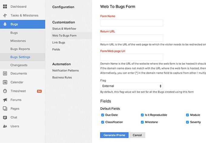 web-bugform