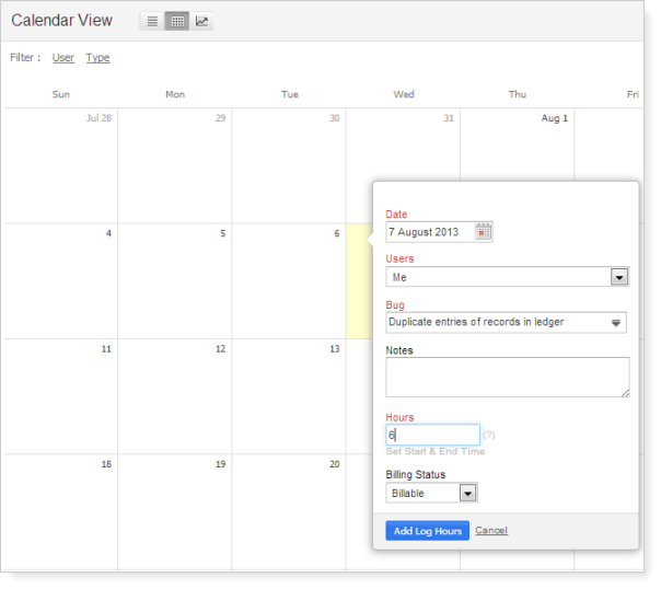 calendarview-logtime