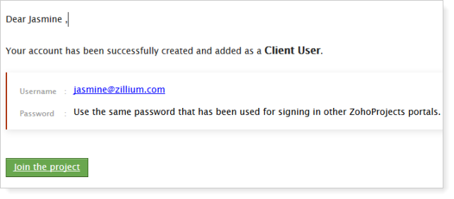 Client User mail