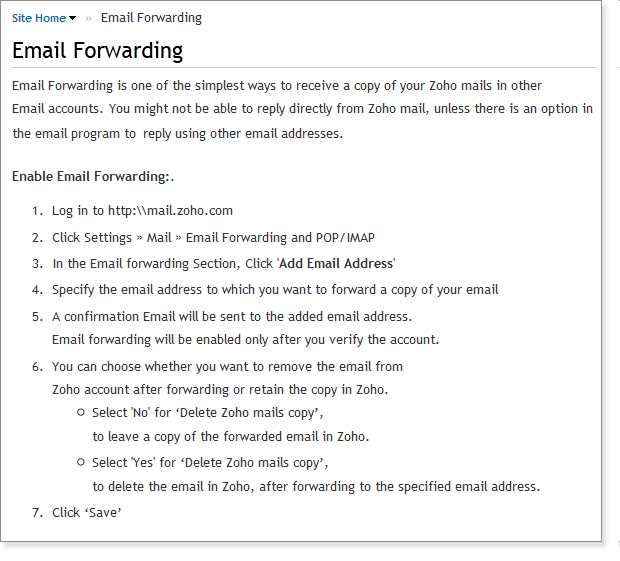 how to connect zoho mail to gmail
