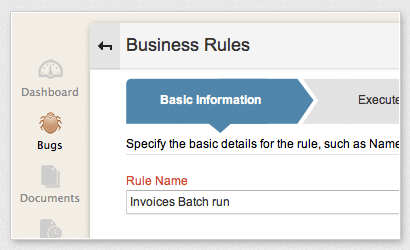 Define business rules