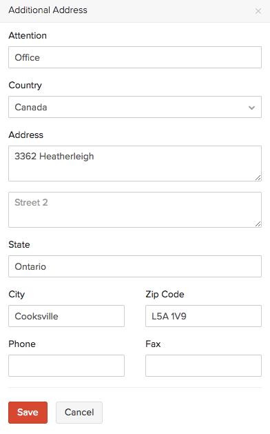 Additional Address