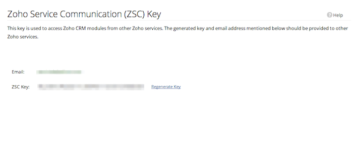 ZSC key generated