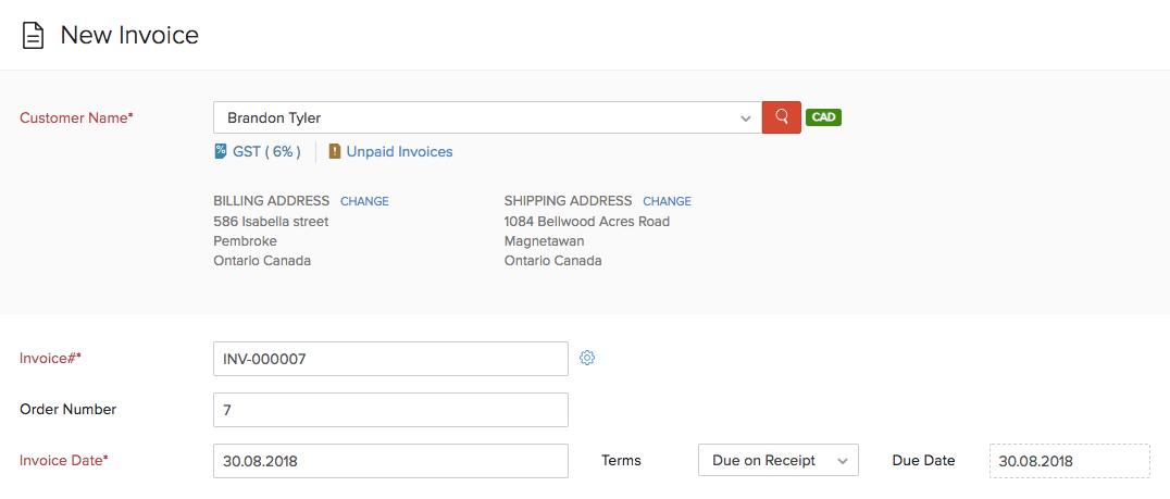 New Invoice