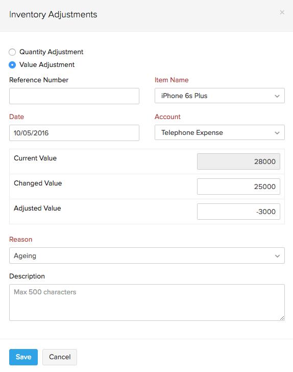 Value adjustment