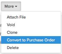 Converting sales order to purchase order