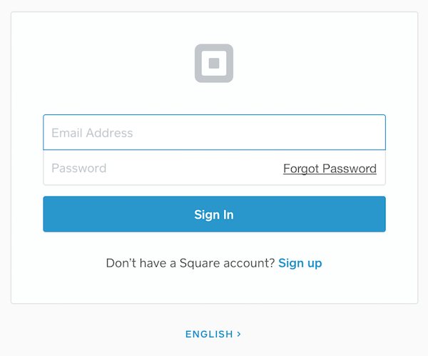 Setting up Square