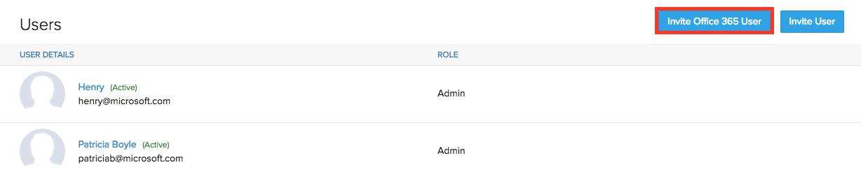 Invite Office 365 User