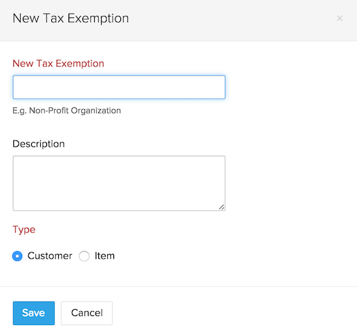 Add Tax Exemption
