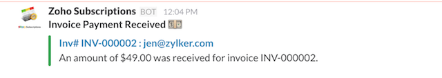 Invoice Payment Success