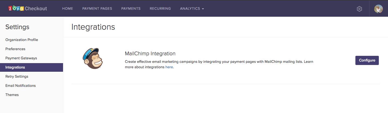MailChimp configuration image