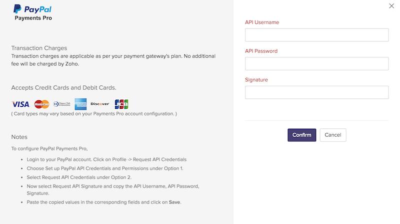 Payments Pro details