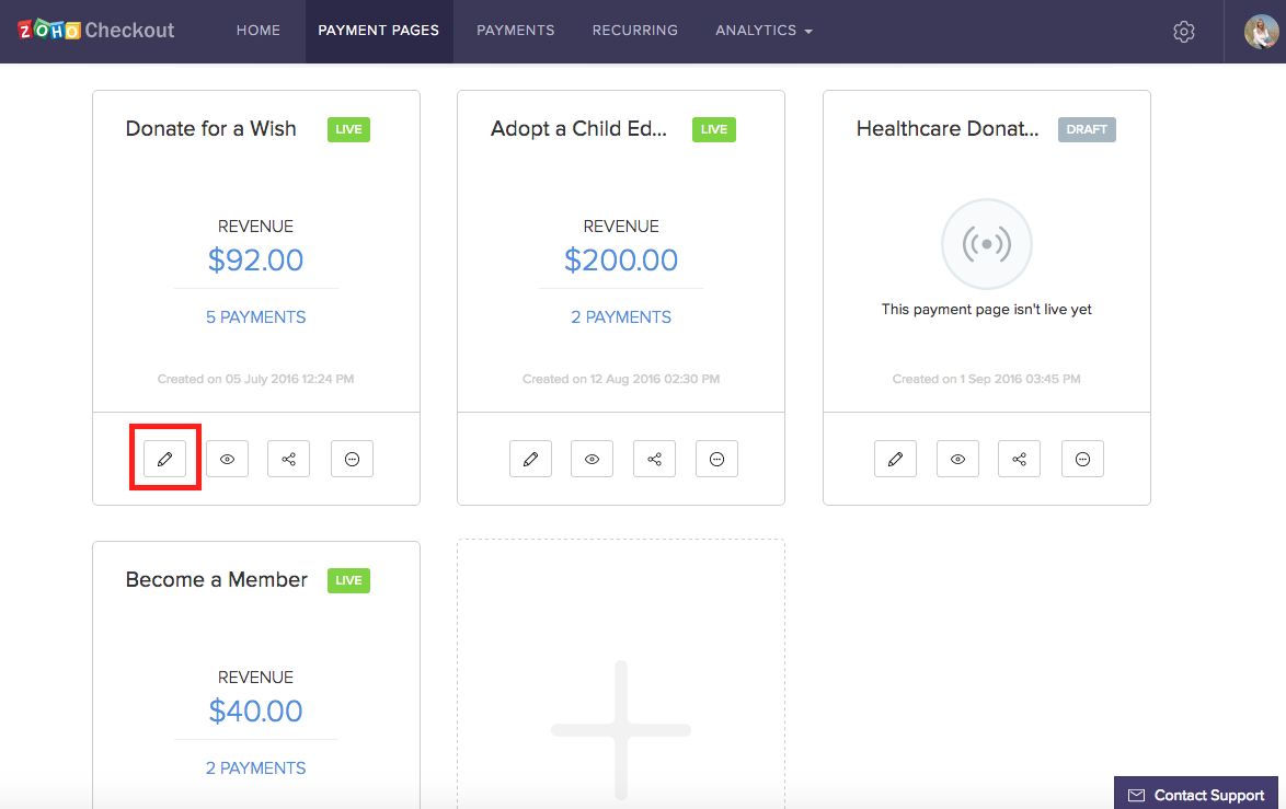 Making changes to the payment page image