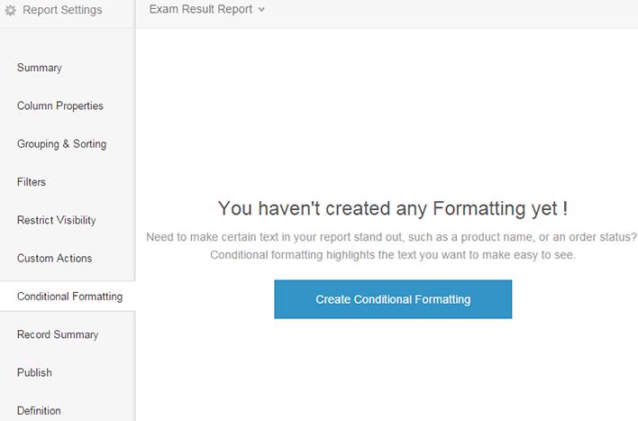 Conditional Formatting | Help - Zoho Creator