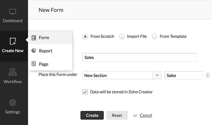 Adding a new form help zoho creator for Zoho creator templates