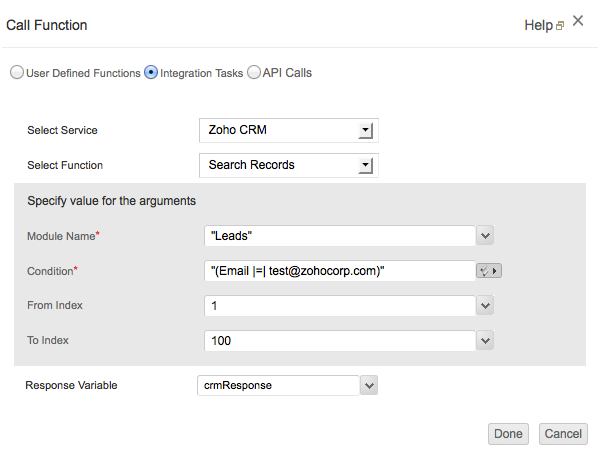 Search records in CRM