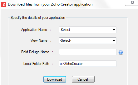 Upload files and images | Help - Zoho Creator