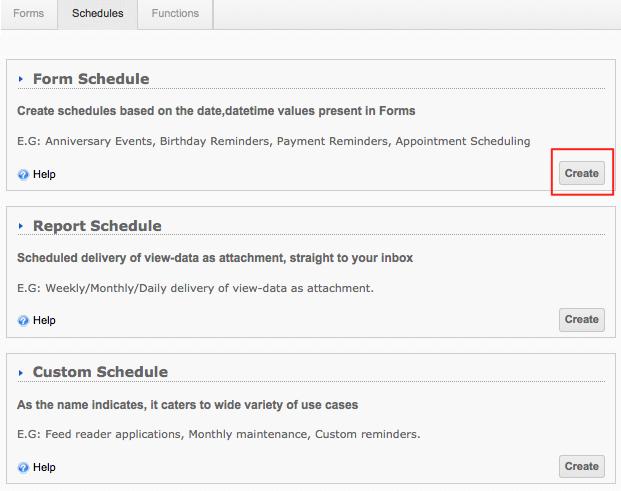 Form Schedule – Schedule a Form