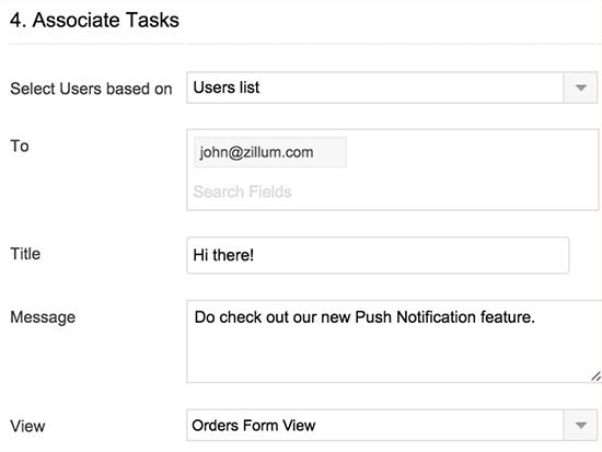 associate tasks