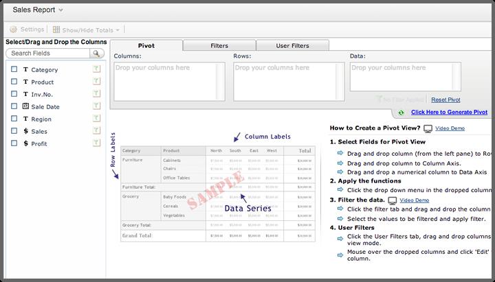 Pivot Table and Pivot Chart | Help - Zoho Creator