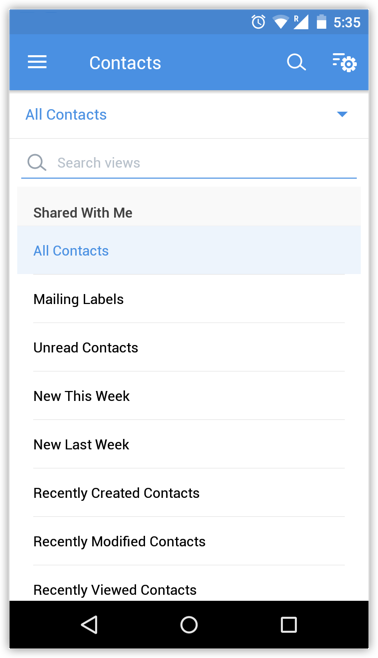 Change List View using Android