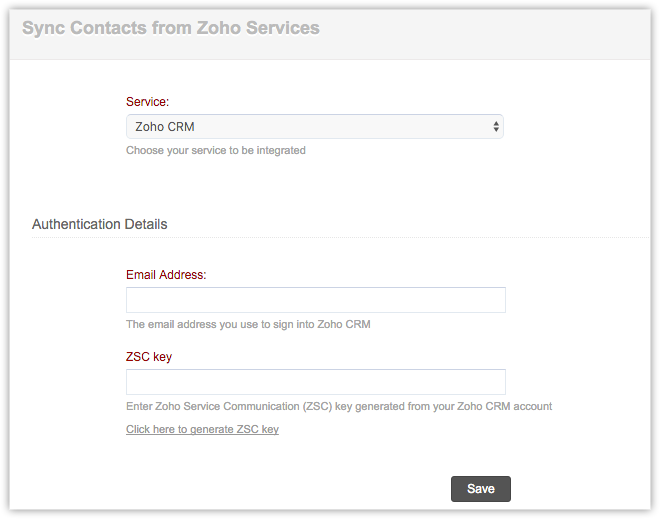 ZSC Key Settings