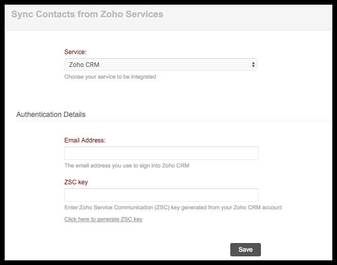 ZSC Key Settings