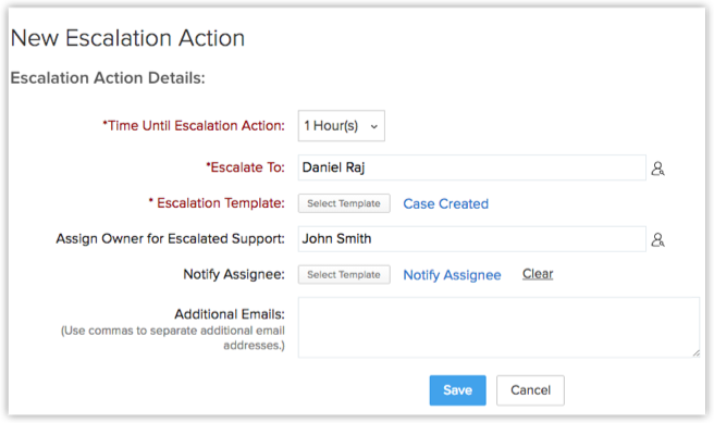 Setting Up Case Escalation Rules Online Help Zoho Crm