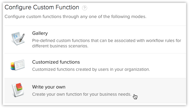 Write your Custom Function