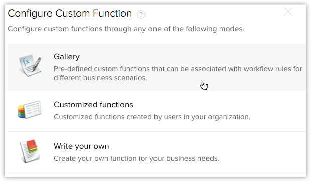 Custom Function